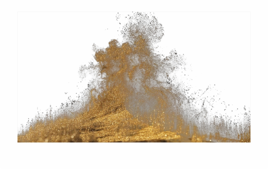 Dust Thick Gratis Gold Download Hd Png Clipart.