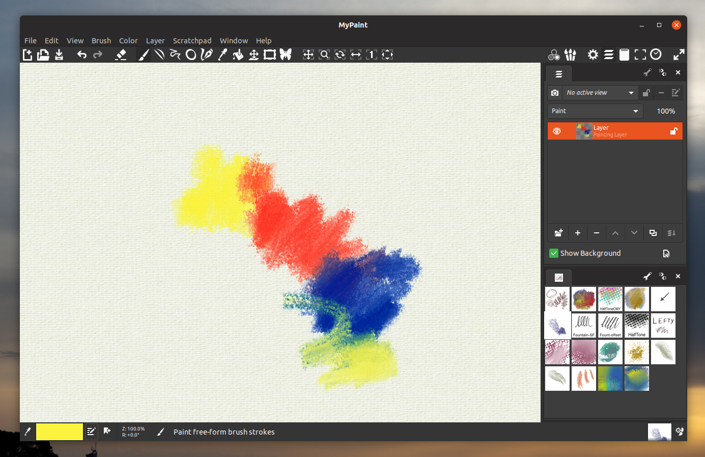 Free Drawing And Painting Program MyPaint 2.0.0 Alpha.