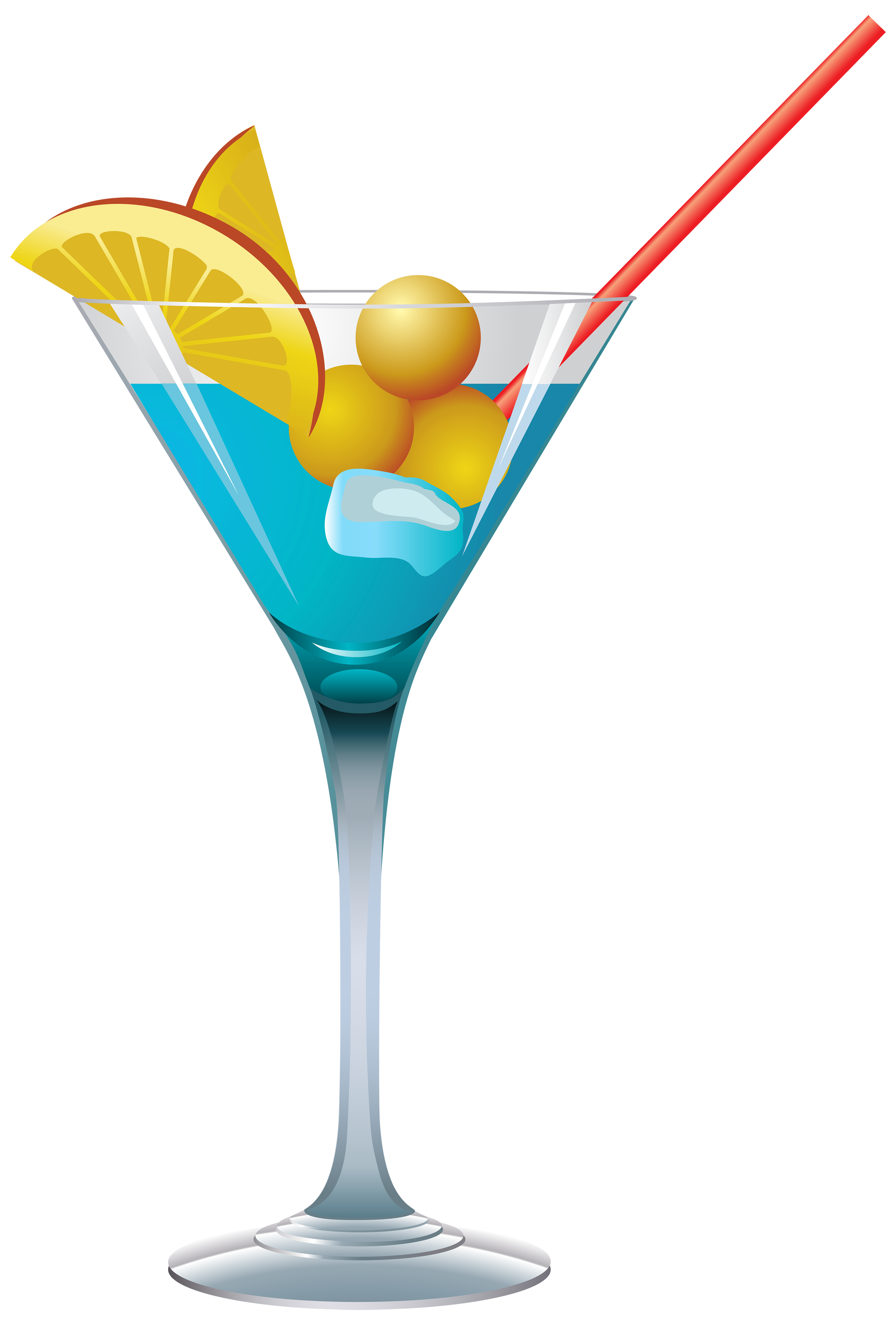 Blue Cocktail PNG Clipart.
