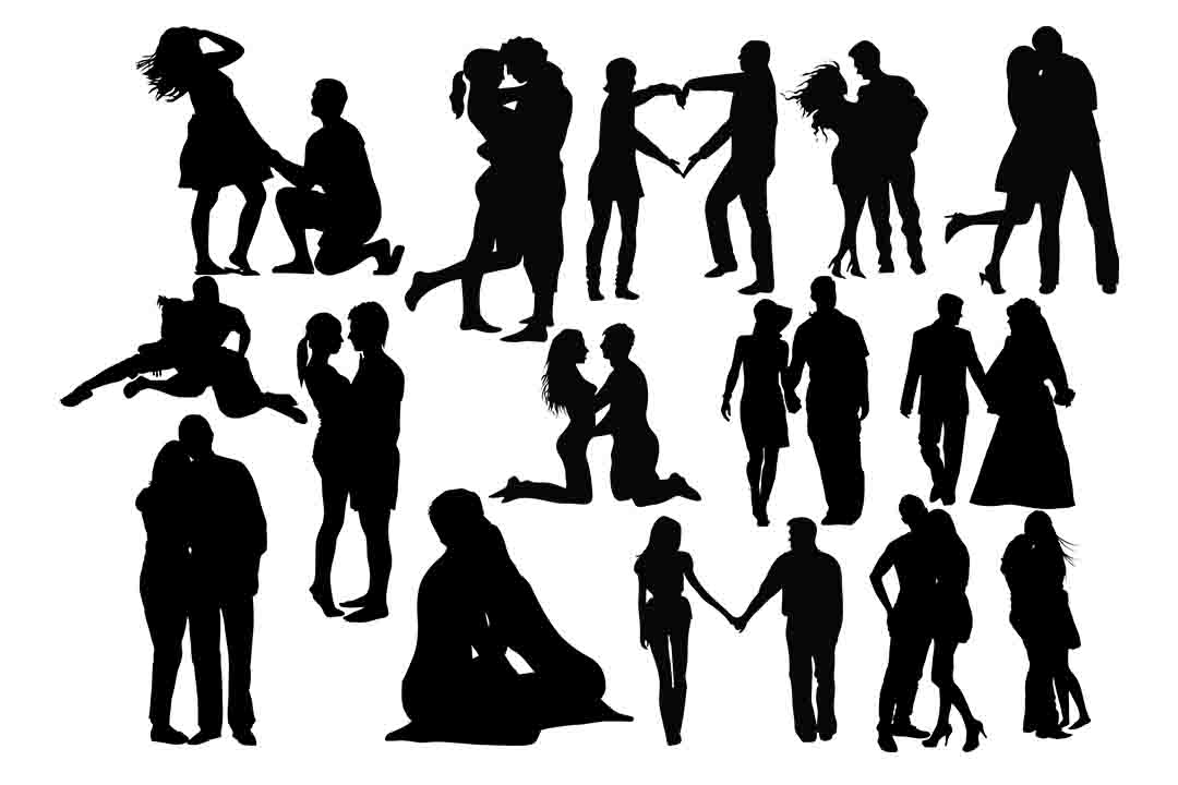 Romantic Couple SVG PNG DXF EPS AI.