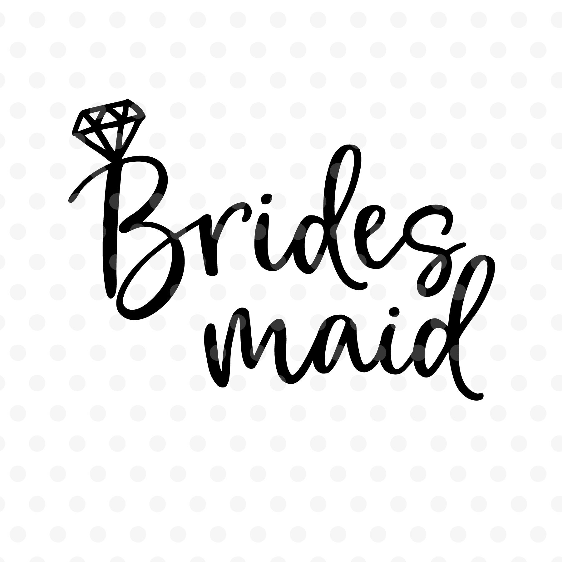 Bridesmaid wedding SVG, EPS, PNG, DXF.