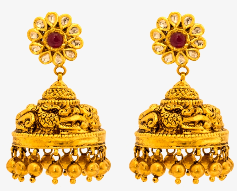 Gold Earrings Collections, South Indian Earrings Designs.