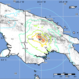 PNG struck by 7.5 magnitude earthquake.