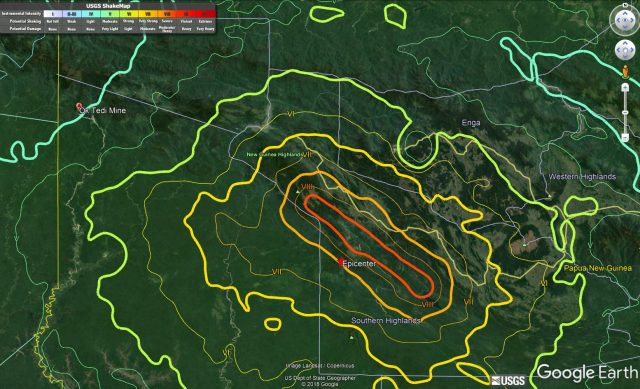 First reports of significant landslides from the Mw=7.5.