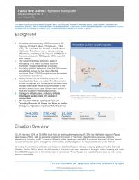 Papua New Guinea: Highlands Earthquake Situation Report No.