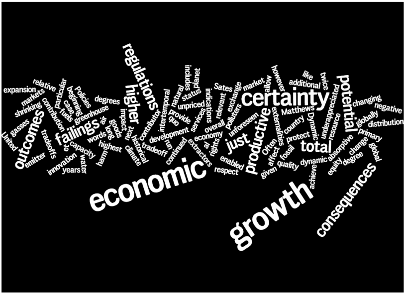 Growing an economy, and a regulatory framework to protect us.