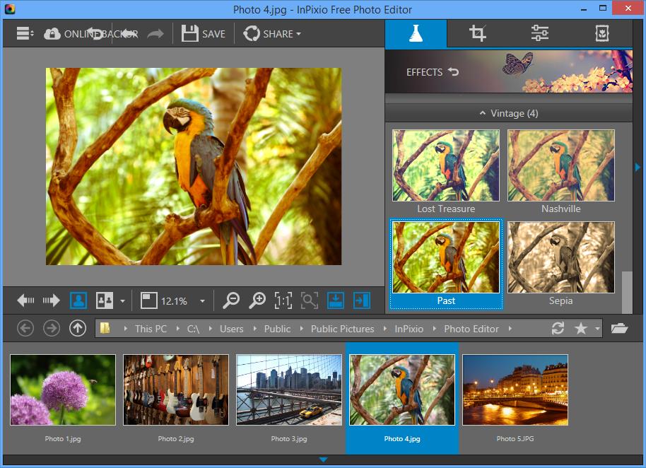 InPixio Photo Editor 1.4 free download.