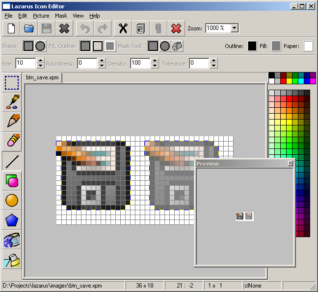 Lazarus Image Editor.