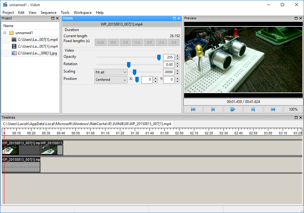 Vidiot download: Open Source Video Editor for Windows.