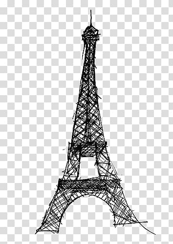 Eiffel Tower Drawing, eiffel tower transparent background.