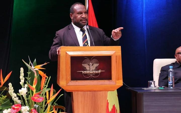 PNG opposition to challenge Marape election in court.