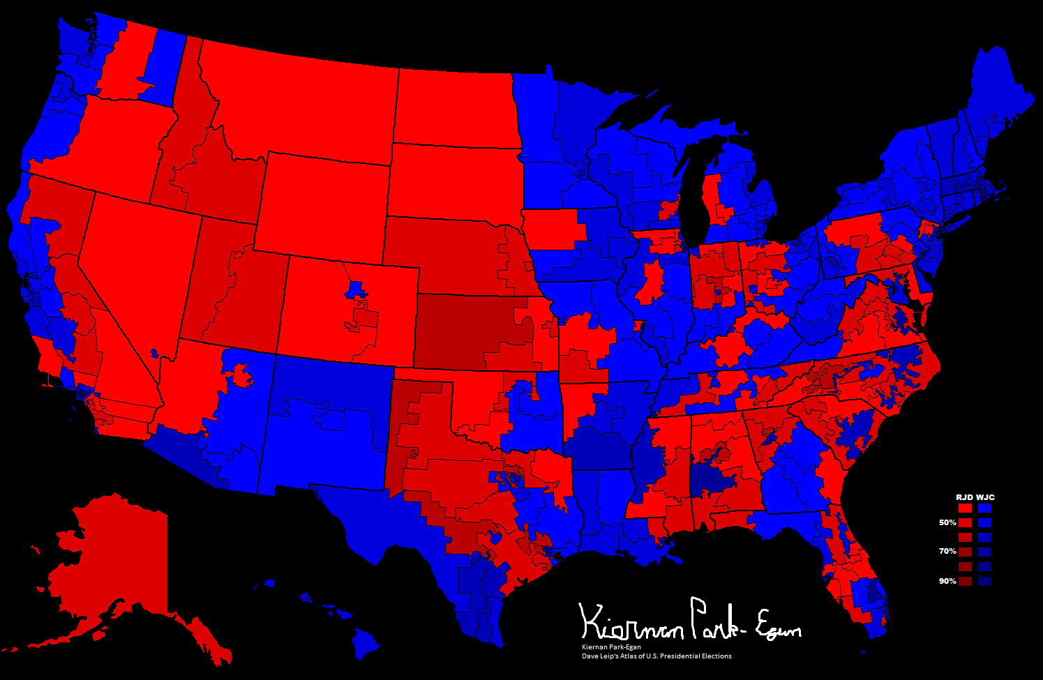 File:1996 Presidential Election, Results by Congressional.