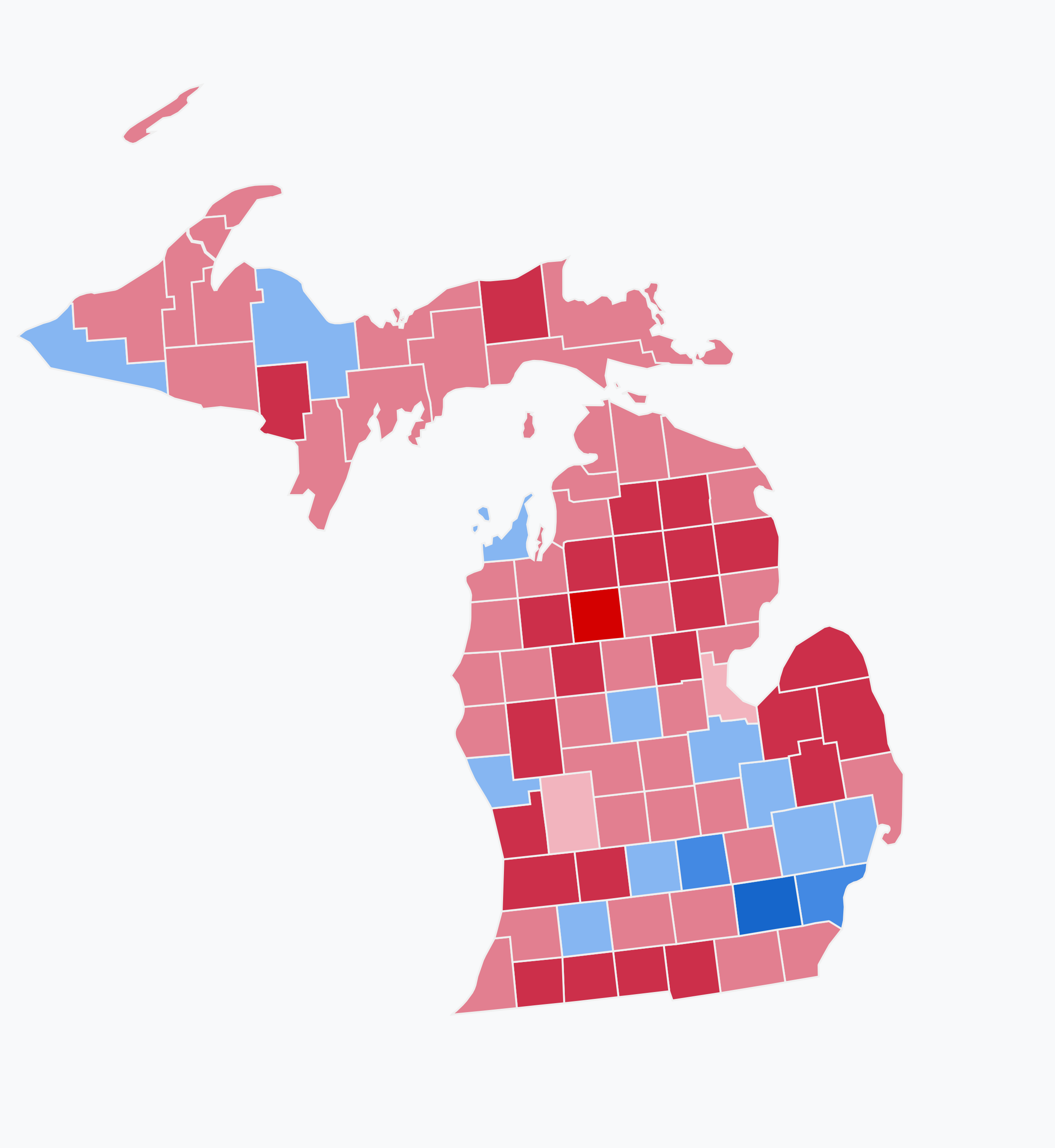 File:2018 Senate election results in Michigan.png.