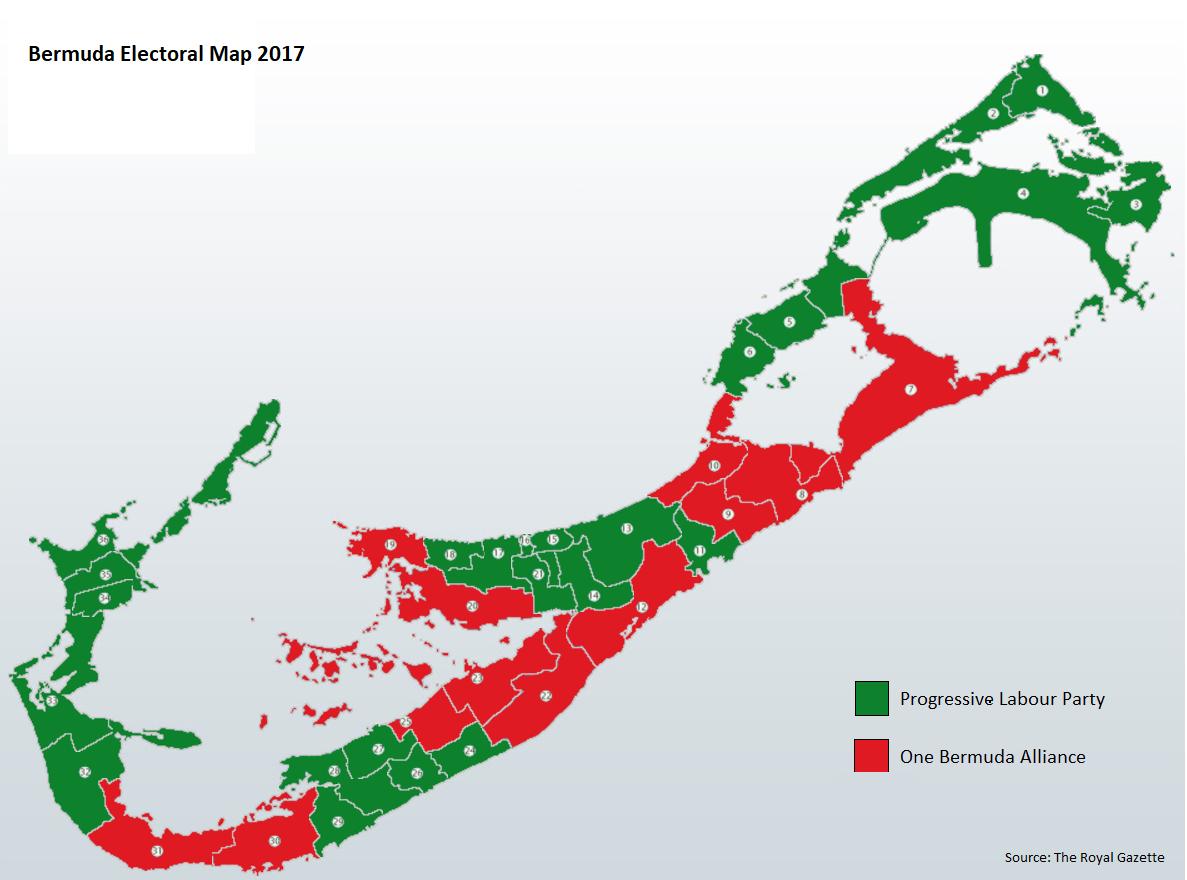 Bermuda General Election Results 2017.