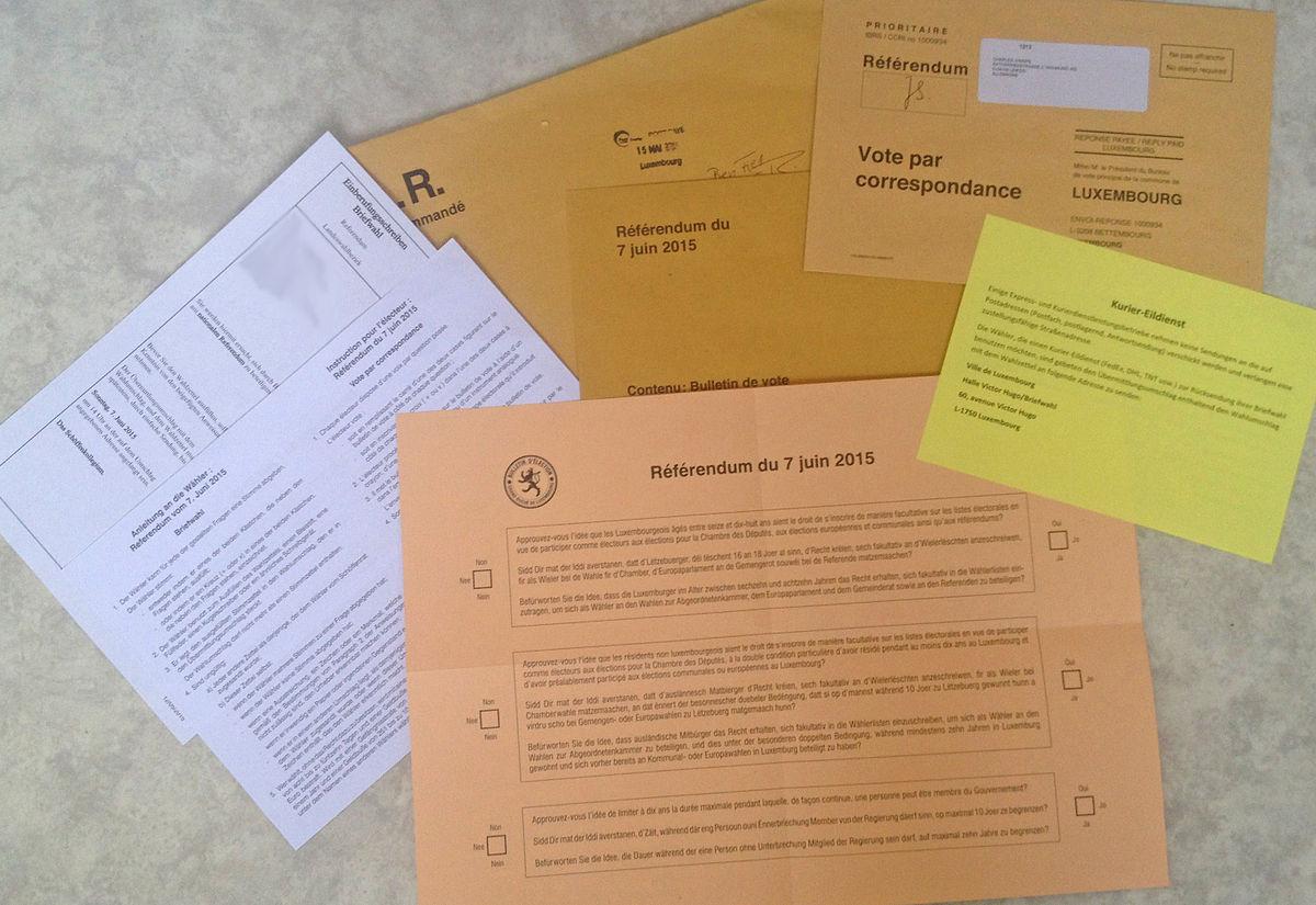 Postal voting.