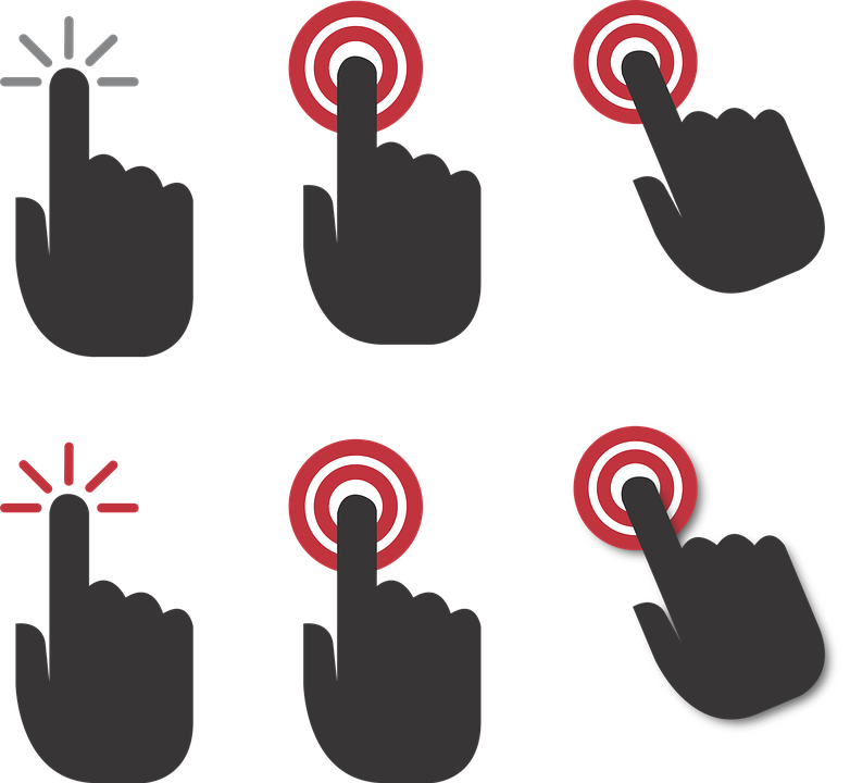 Hand Click Icon Png #370068.