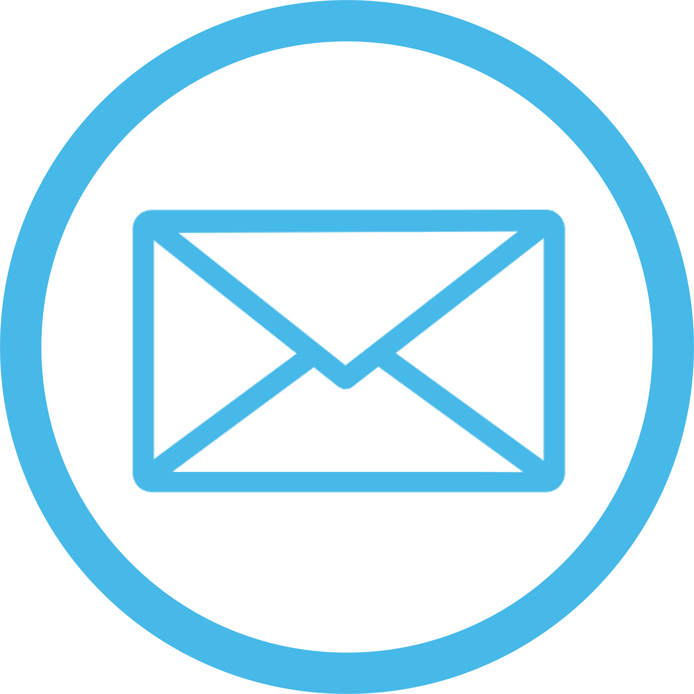 Email Icon Blue transparent PNG.