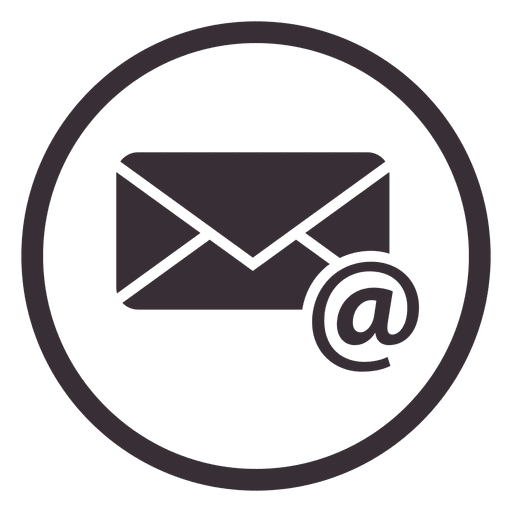 Email circle icon design.