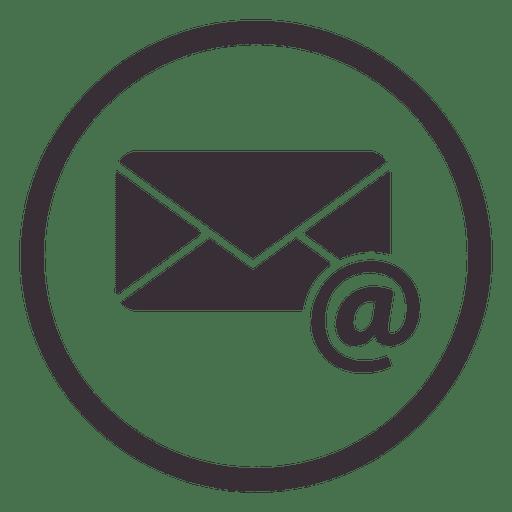 Email circle icon design.