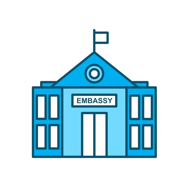 Embassy Icon For Personal And Commercial Use, Company.