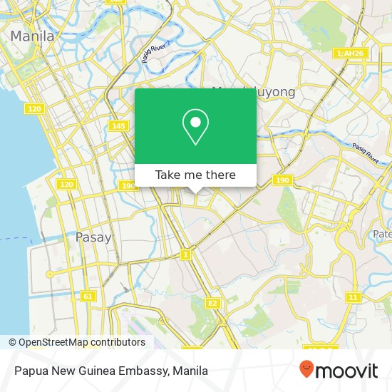 How to get to Papua New Guinea Embassy in Makati City by Bus.