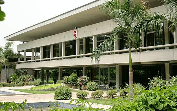 Embassy of Switzerland in New Delhi, India.