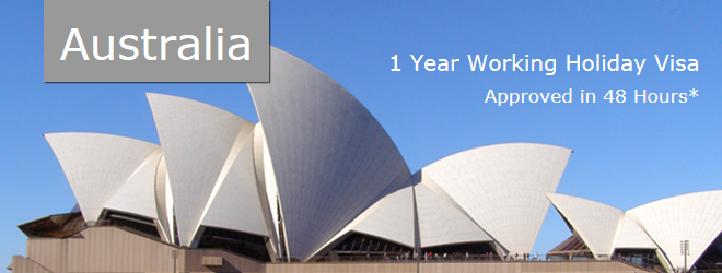Australian Visa, Australia 1 Year Working Holiday Visa.