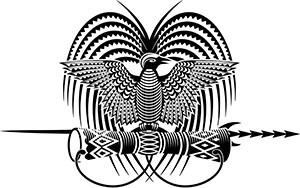 Papua New Guinea Emblem Bird of Paradise Tattoo Design.