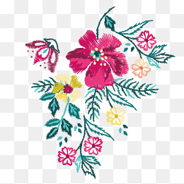 Vector Color Embroidery Decoration Patte #3123.