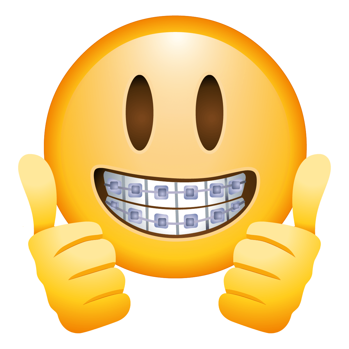 Braces Face Emoji transparent PNG.