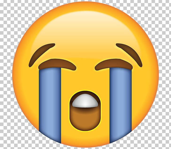 Face With Tears Of Joy Emoji Crying Laughter Sticker PNG.