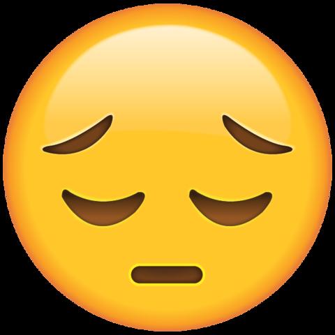 Sad Face Emoji.