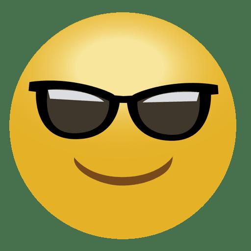 Cool emoji emoticon.