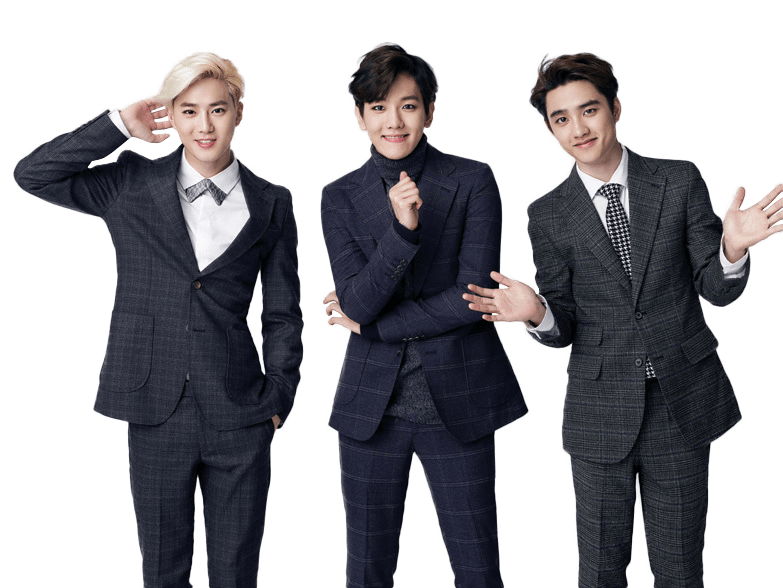 EXO Suho, Baekhyun and DO transparent PNG.