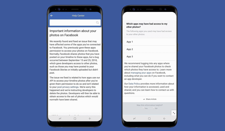Facebook bug exposed private photos of 6.8 million users.