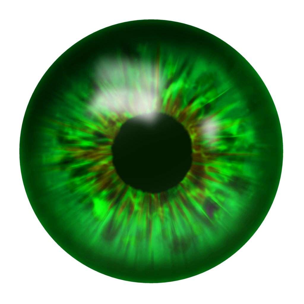 Green Eyes PNG Image.