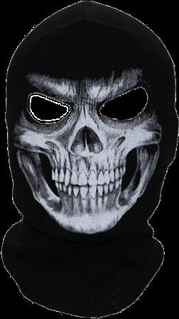 HD A Black Skull Face Mask.