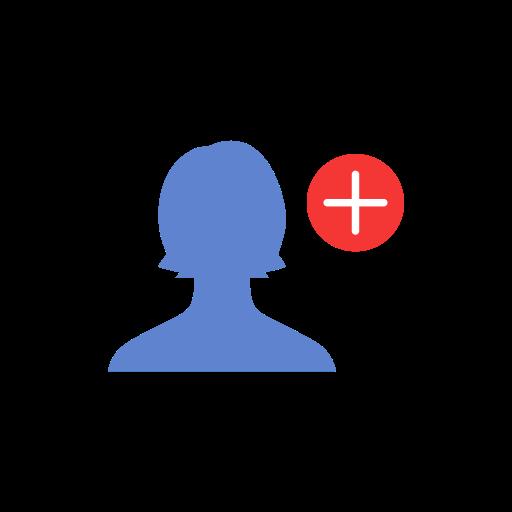 friend request, Facebook, fb, Add friend icon.