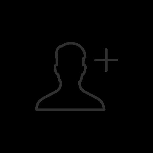 Add friend, add user, facebook, fb icon.