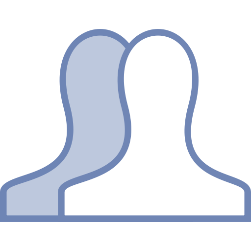 All, friends, Facebook icon.