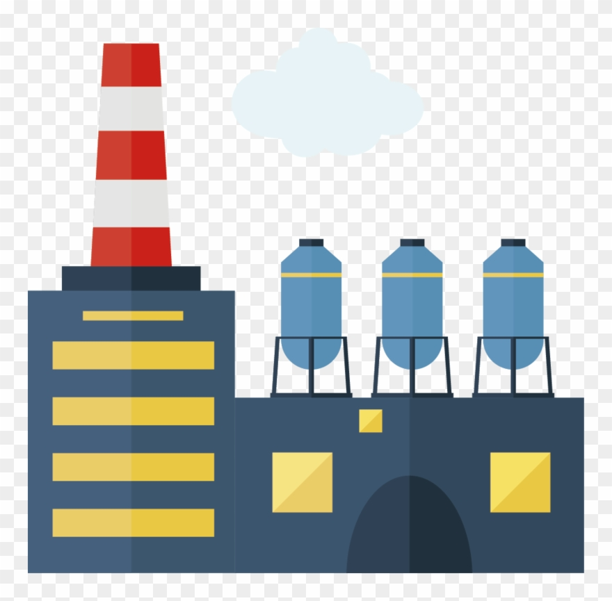 Factory Creative Vector Design Chimney Icon.