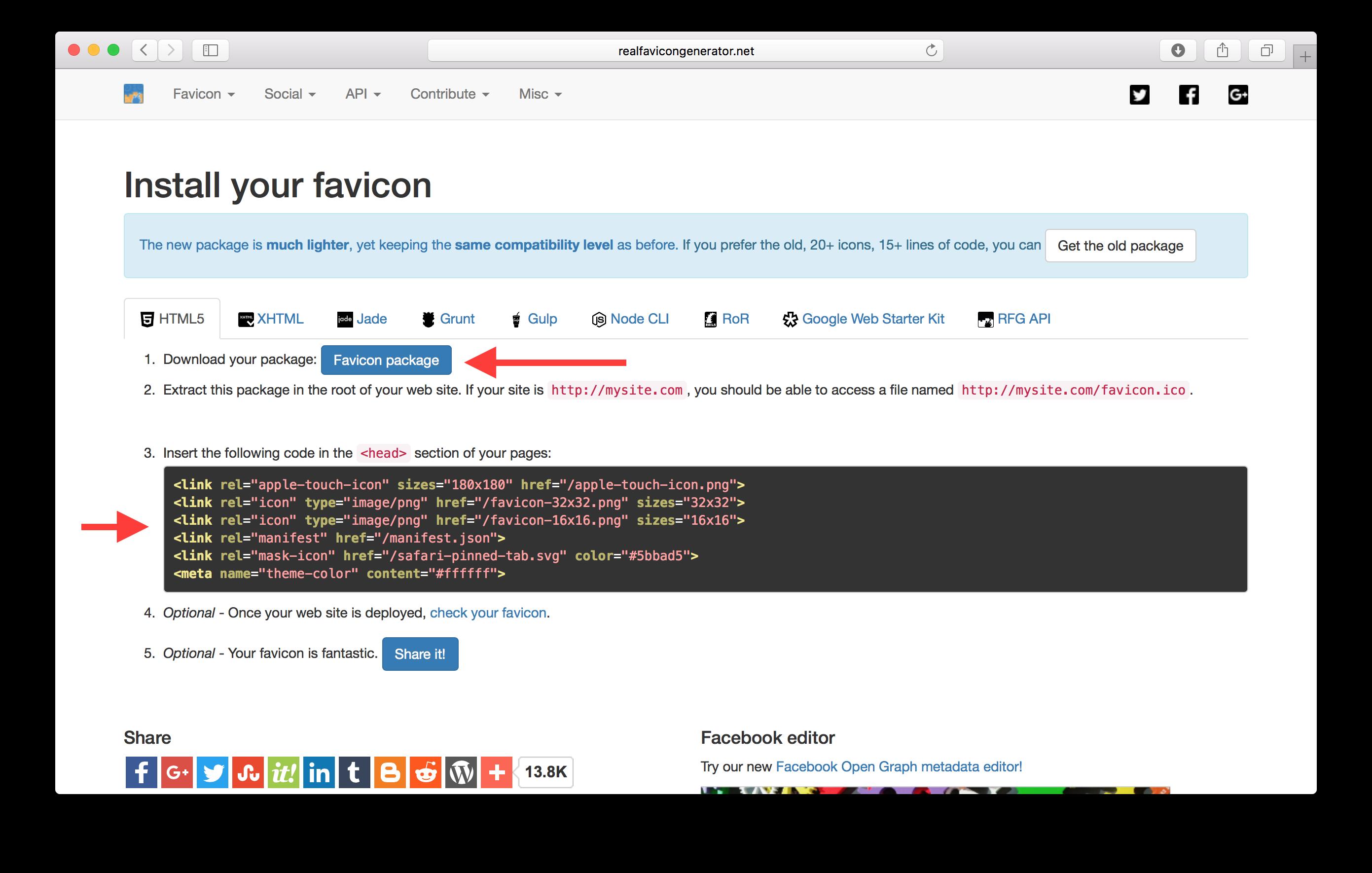 Add App Favicons.