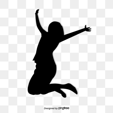 Jumping Silhouette Figures PNG Images.