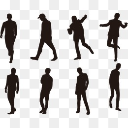 People Silhouette Vector, Silhouette Fig #69458.