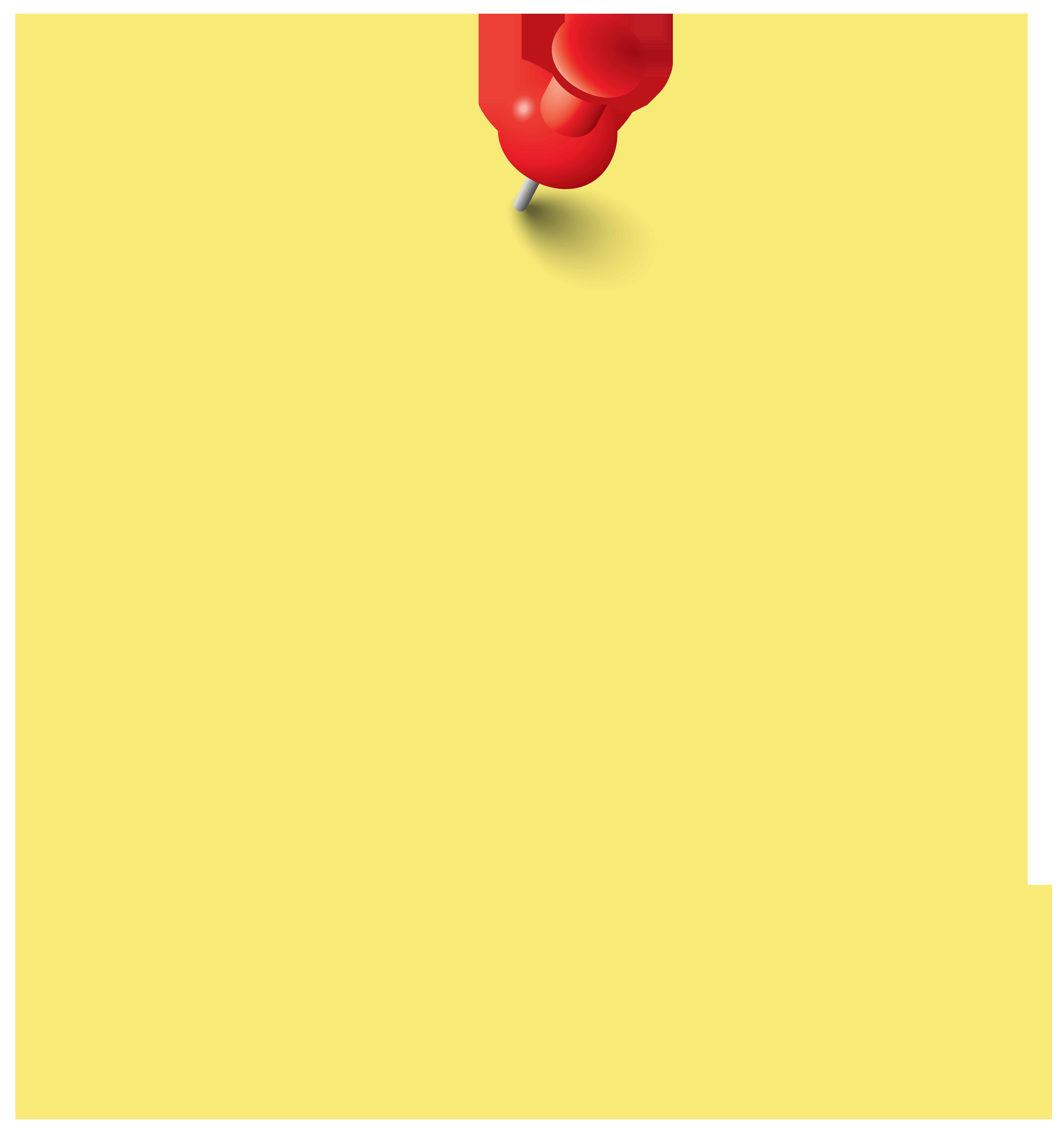 Sticky Note PNG Clip Art Image.