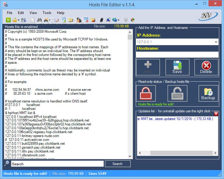 Download Hosts File Editor 1.5.9.