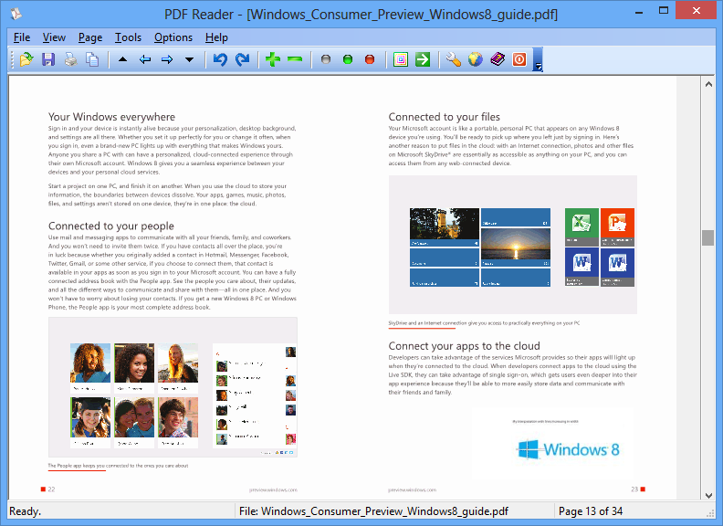 PDF Reader for Windows 8, Windows 8.1.