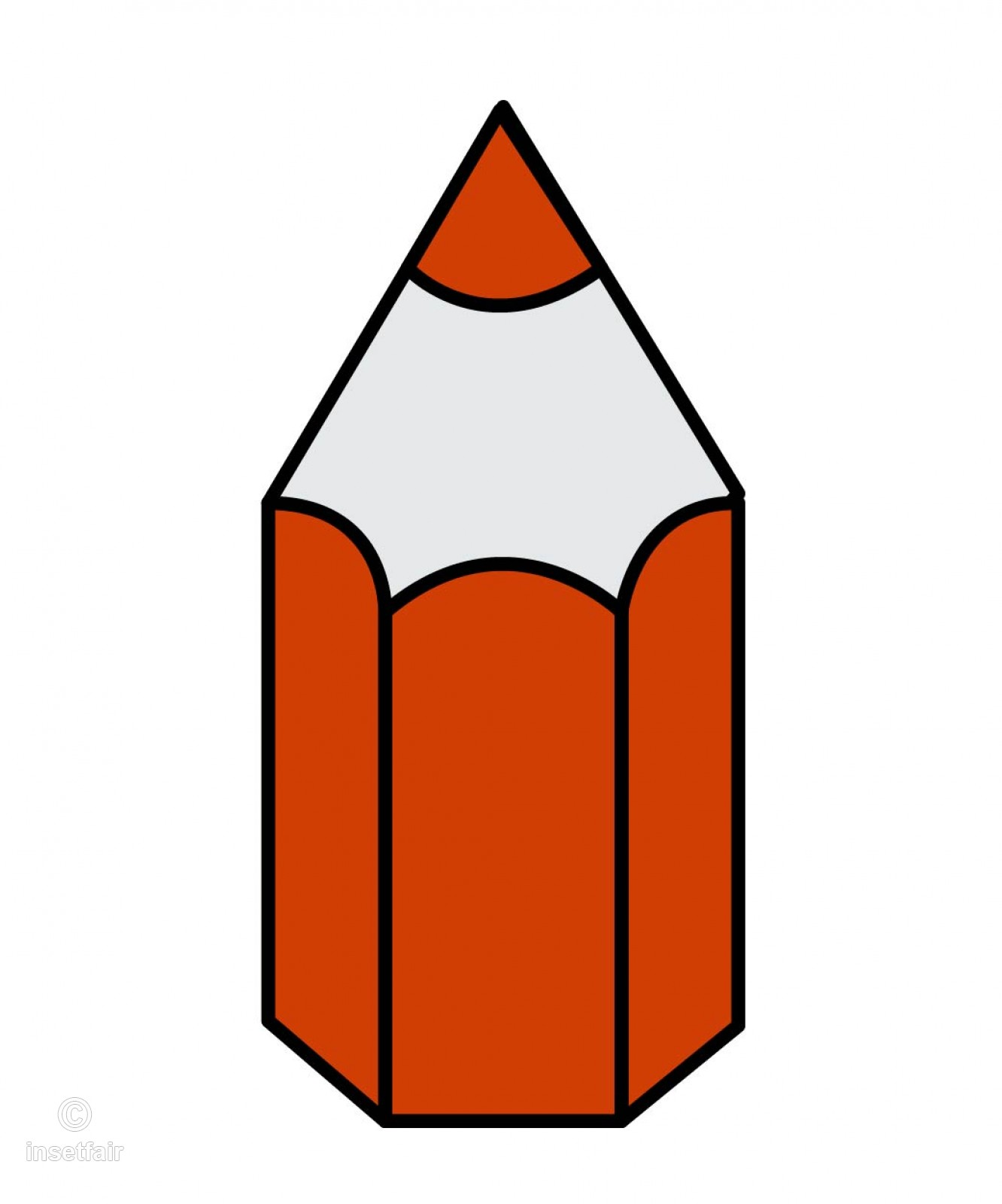 Pencil icon in red png file.