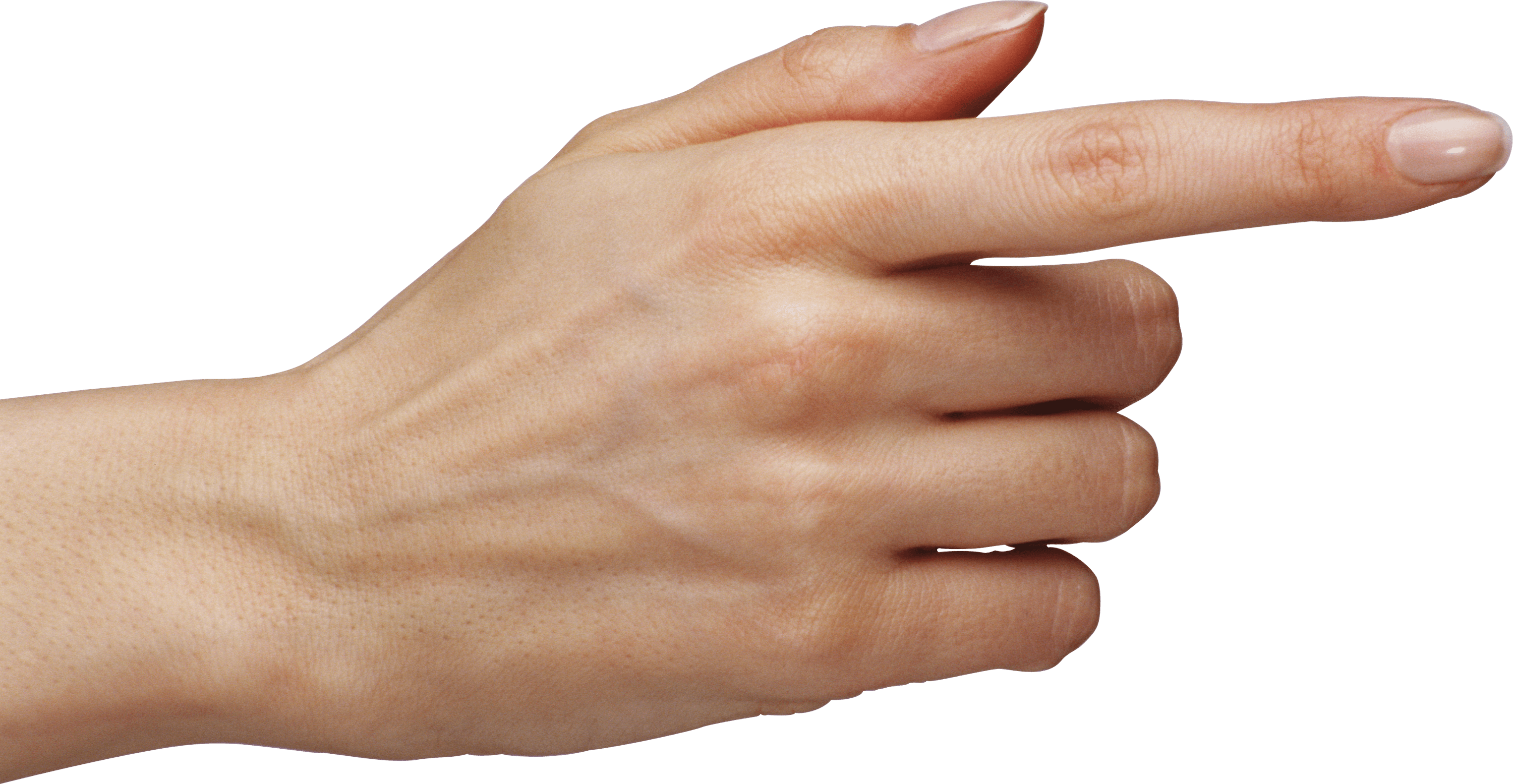 Woman Pointing Finger transparent PNG.
