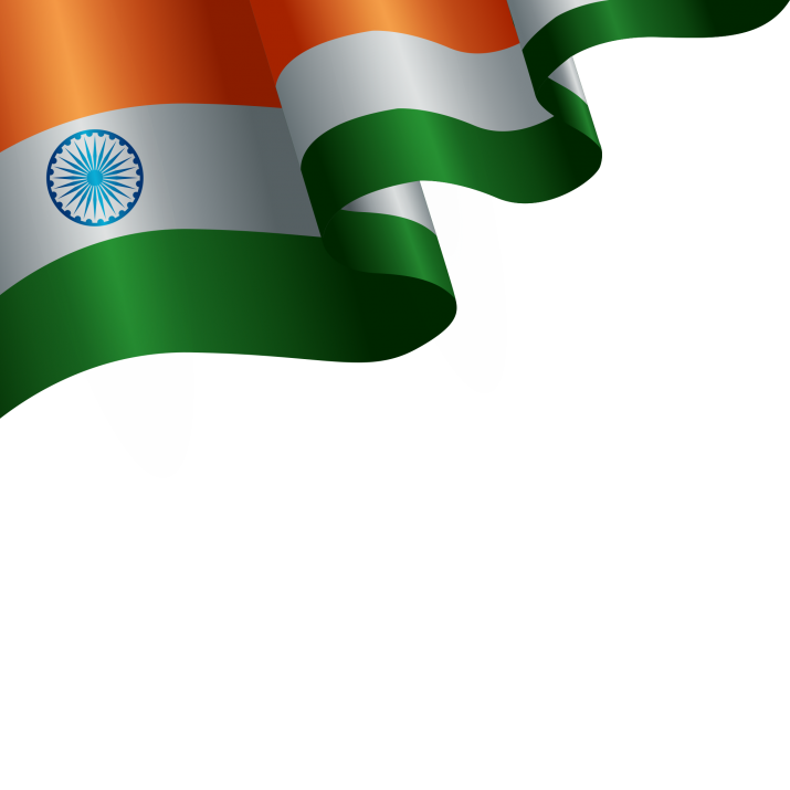 India Flag Background PNG.